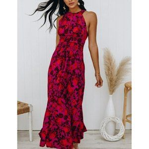 NWT Abel The Label Floral Maxi Dress in Purple